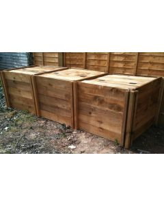 1900 Blackdown Range Triple Standard Wooden Composter with Lids