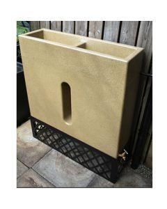 280L Slimline Water Butt Planter - Sandstone