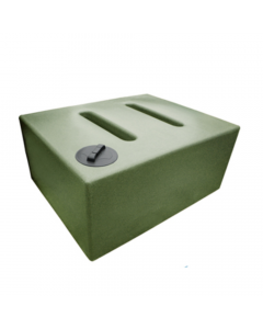 Layflat 1050L Rectangular Baffled Water Butt in Green Marble