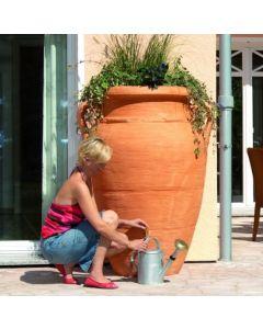 250L Antique Amphora Water Butt in Terracotta