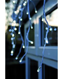 360 White LED Snowing Icicle Lights With Speed Setting & White Cable