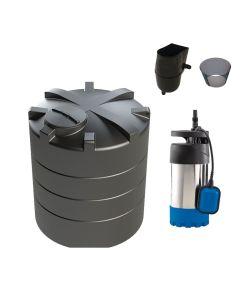 5,000L Vertical Tank Rainwater Harvesting System for Medium (150 m2) to Large (250 m2) Gardens.