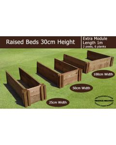 30cm High Extra Module for Raised Beds - Blackdown Range - 25cm Wide