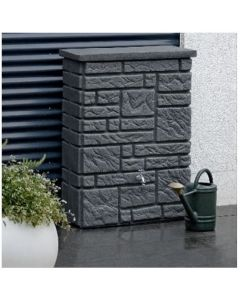 300L Maurano Stone Effect Water Butt - Charcoal