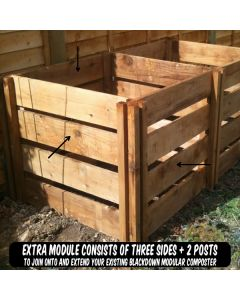 400 Blackdown Range Single Slotted Wooden Composter Extra Module