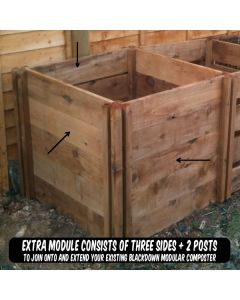 400 Blackdown Range Single Standard Wooden Composter Extra Module