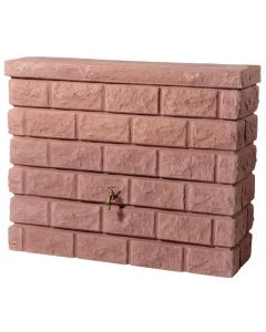 400L Rocky Wall Water Tank in Red Stone