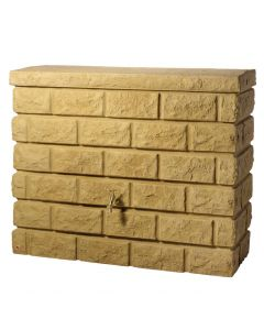 400L Rocky Wall Water Tank in Sandstone