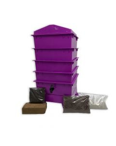 4 Tray Standard Tiger Rainbow Wormery Dark Orchid Purple