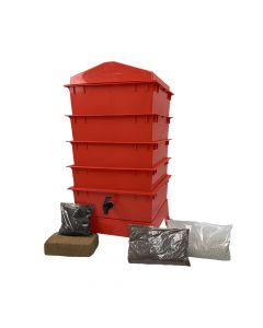 4 Tray Standard Tiger Rainbow Wormery Electric Red