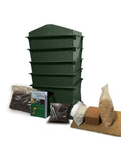 4 Tray Deluxe Tiger Wormery Green