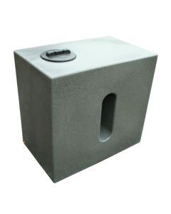 500 Litre Cube Rainwater Tank in Millstone Grit