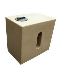 500 Litre Cube Rainwater Tank in Sandstone