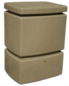 525L Mini Pillar Marble Effect Rainwater Tank in Sandstone