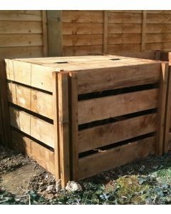 600 Blackdown Range Single Slotted Wooden Composter with Lid