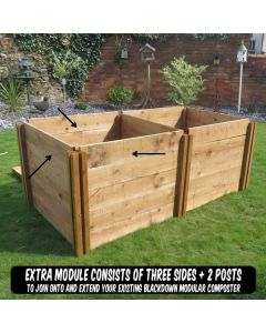 600 Blackdown Range Single Standard Wooden Composter Extra Module