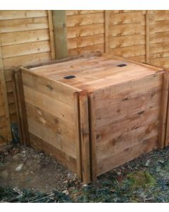600 Blackdown Range Single Standard Wooden Composter with Lid