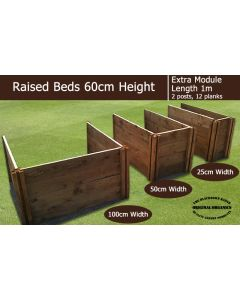 60cm High Extra Module for Raised Beds - Blackdown Range - 50cm Wide