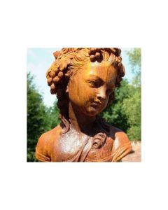 Cast Iron Roman Lady Bust - Rust