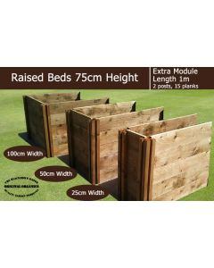 75cm High Extra Module for Raised Beds - Blackdown Range - 100cm Wide