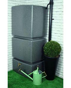 800 Litre Vertical Slim Line Rainwater Tank in Millstone Grit