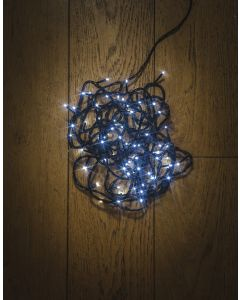 100LED Static White String Light With Green Cable
