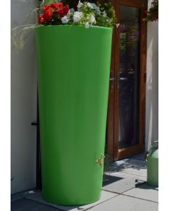 380 Litre Garden Planter Water Butt Apple Green with Tap Kit & Diverter