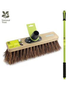 "National Trust 12"" Natural Bassine Sweeping Broom w/Handle FSC Wood"