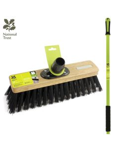 "National Trust 12"" Stiff Pvc Outdoor Sweeping Broom With Handle FSC Wood"