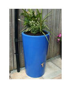 180L Garden Planter Water Butt Blue