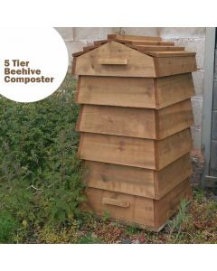 Blackdown Beehive Wooden Composter - 5 Tier - Pre Built
