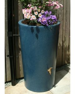 180L Garden Planter Water Butt Blue Stone
