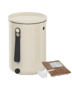 Bokashi Organko 2 Compost Bin (9.6L) Cream White with 2kg Bokashi Bran