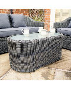 Rowlinson Bunbury Sofa Set Grey Weave