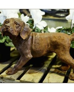 Puppy Dog Cast Iron Statue - Rust