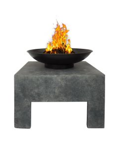 Metal Fire Bowl With Square Stand Outdoor Heating