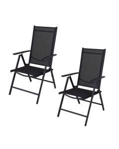 Folding Chair Black - Set of 2