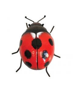 Giant Metal 3D Ladybird Garden Ornament