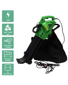3 in 1 3000W Electric 220V Leaf Blower/ Vacuum / Shredder with a 45L Bag
