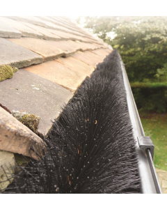 Hedgehog Gutter Brush in drain