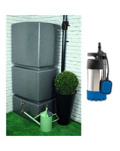 800L Rainwater Tank - Filter & Pump