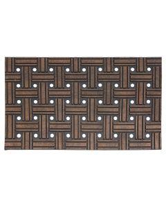 Woven Effect Sienna Rubber Scraper Doormat 45 x  75cm
