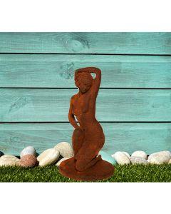 Fifties Nude Cast Iron Statue