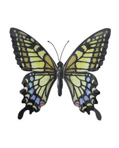Large Yellow Black and Blue Butterfly Garden Ornament