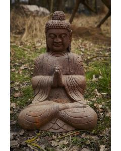 Cast Iron Meditating Buddha Statue