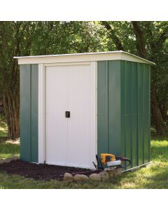 Rowlinson 6' x 4' Greenvale Metal Pent Shed With Floor
