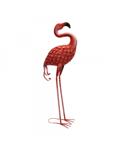 Metal Forward Facing Flamingo Ornament