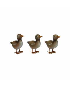 Small Metal Ducklings (Set of 3)