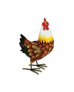Metal Farmyard Hen Ornament