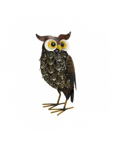 Metal Brown Woodlands Owl Ornament